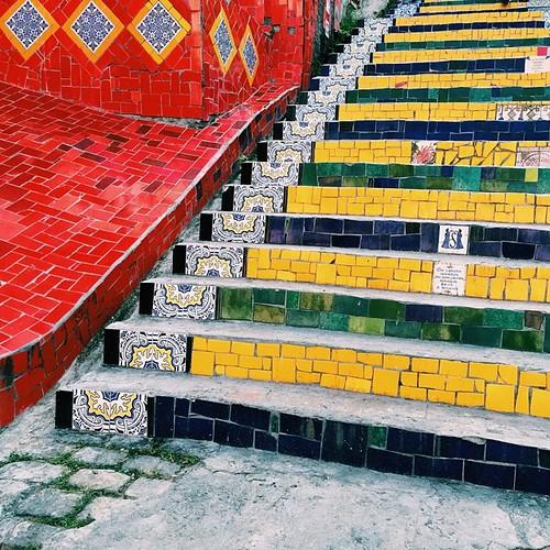 Escadaria Selarón #rio #santateresa #tiles