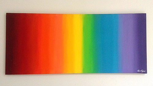 Spectrum painting by Lauralee Lindt