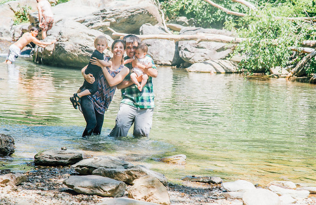 Family photo at swimming hole-1