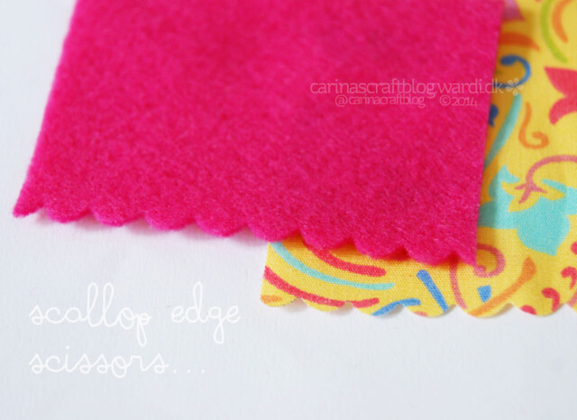 Scallop edge scissors for fabric!