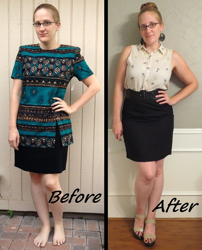 Black Pencil Skirt - Before & After
