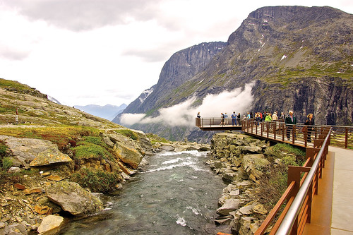 On the way to the  Stigfoss Waterfall