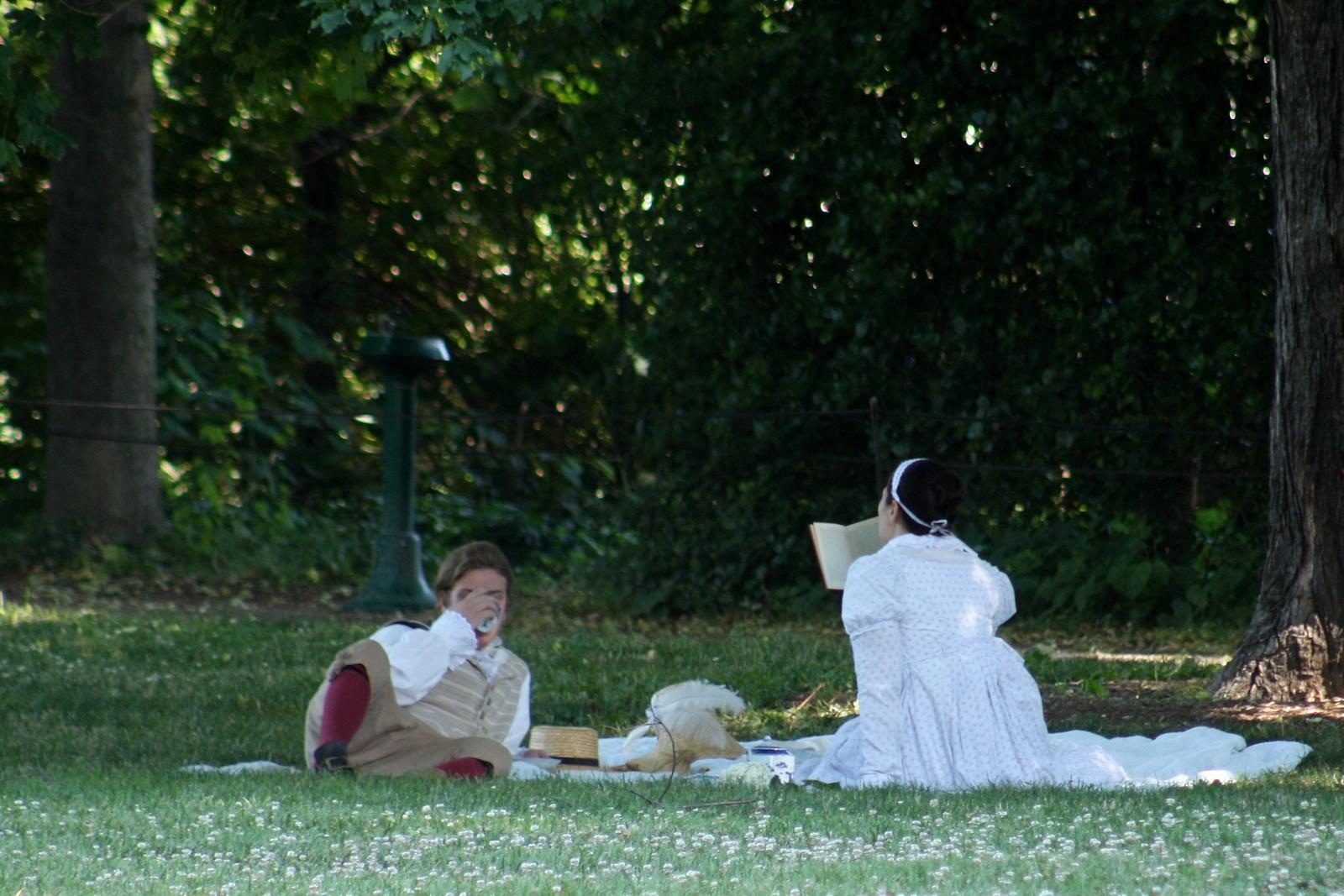 Mount Vernon Tea on the grass