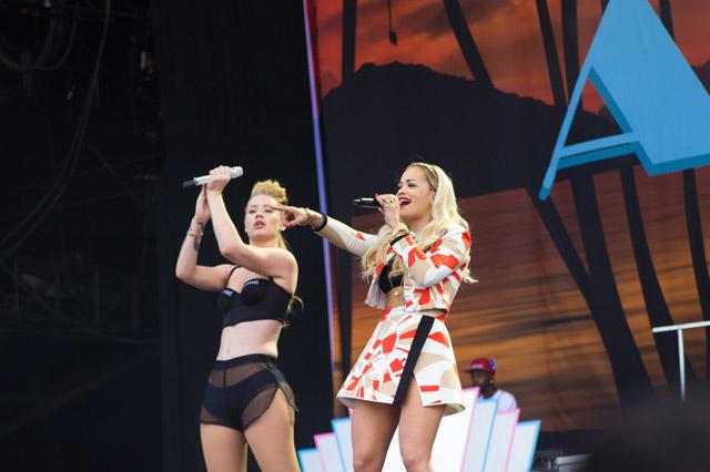 Iggy Azalea and Rita Ora at Wireless 2014