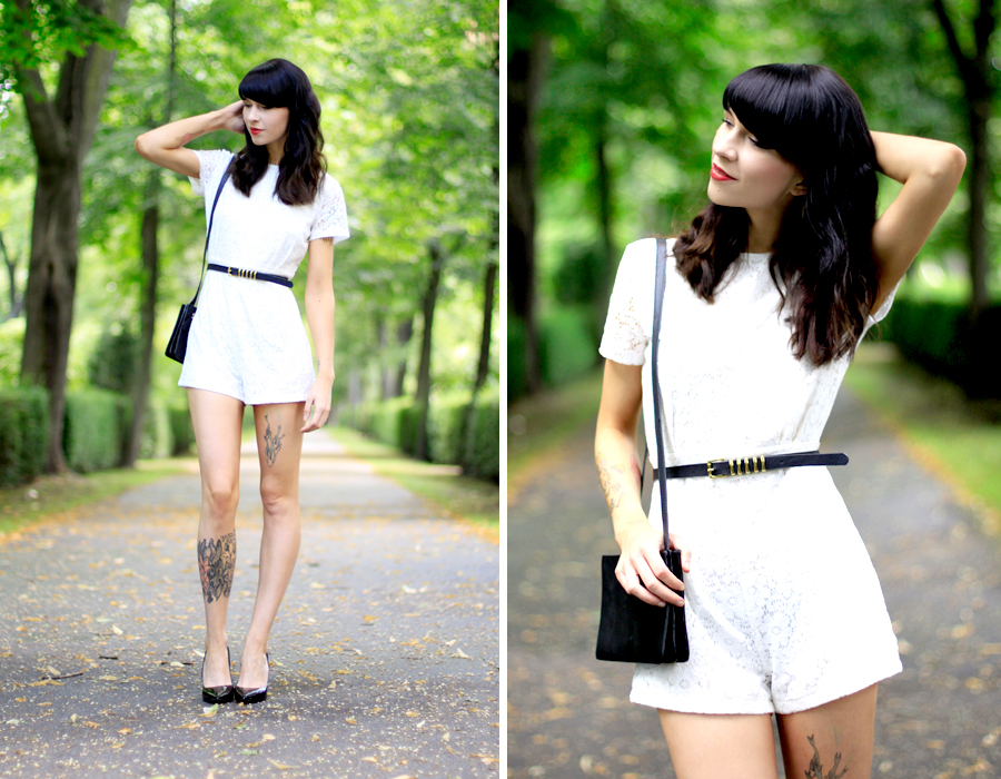 AX Paris white lace short playsuit kaviar gauche inspired chic fashion week berlin outfit ootd fashion blogger Ricarda Schernus CATS & DOGS blog 5