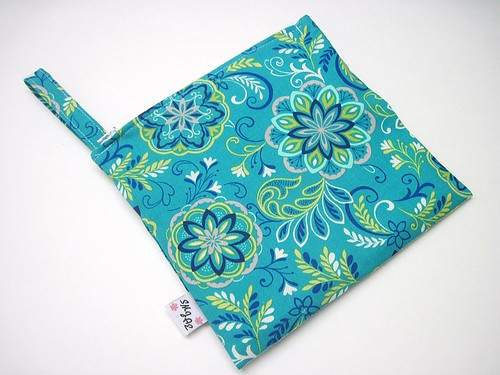 New Size Floral Blues Wet/Dry Bag