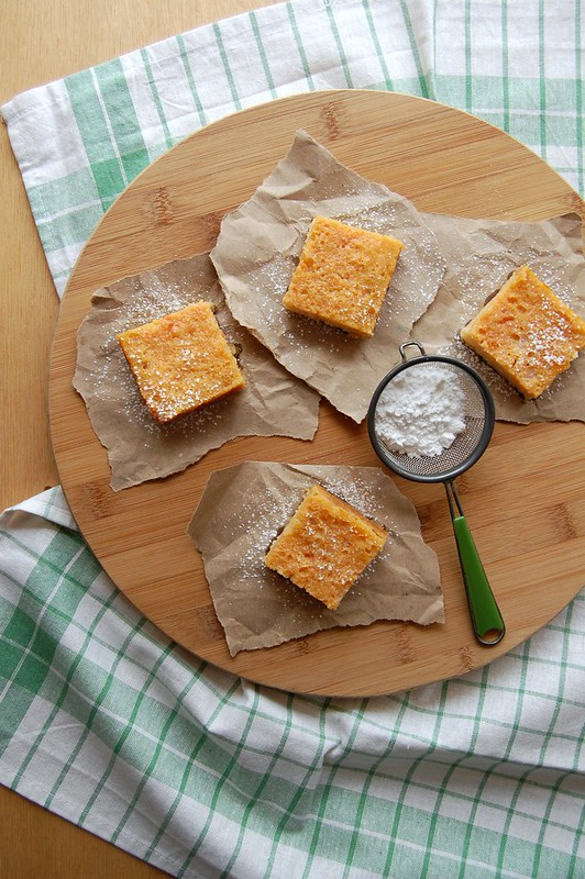 Grapefruit bars / Barrinhas de toranja