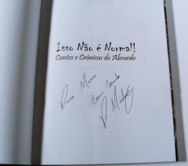 Livro autografado, Contos e Crônicas do Absurdo, Rô Mierling, resenha