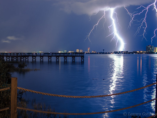 nightphotography nature water river pier daytonabeach lightening halifaxriver lighteningstrikes