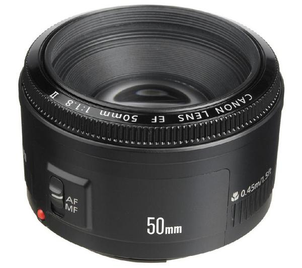 Canon EF 50mm f barra 1.8 II