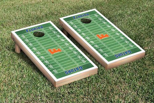 University of Florida Gators UF Cornhole Game Set Football Field