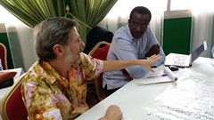 ILRI's Tom Randolph and Abdou Fall at the Burkina Faso small ruminants value chain strategy and implementation planning workshop, 14-15 July 2014