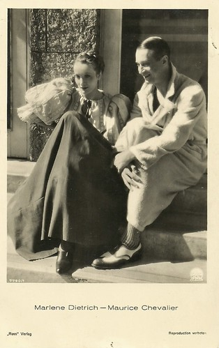 Marlene Dietrich and Maurice Chevalier