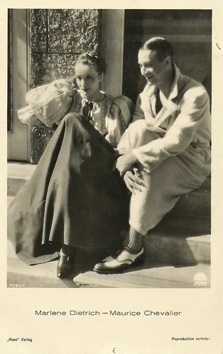 Marlene Dietrich and Maurice Chevalier