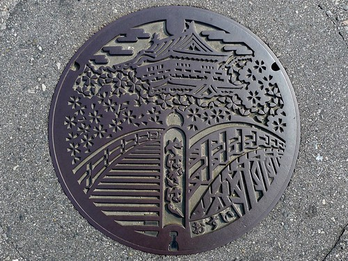 Okazaki Aichi, manhole cover 2 (愛知県岡崎市のマンホール2)