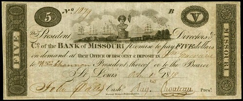 Bank of Missouri $5 note