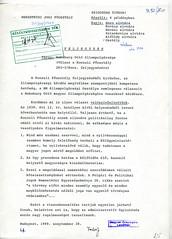 119. A Külügyminisztérium Nemzetközi Jogi Főosztályának feljegyzése Habsburg Ottó magyar állampolgárságáról