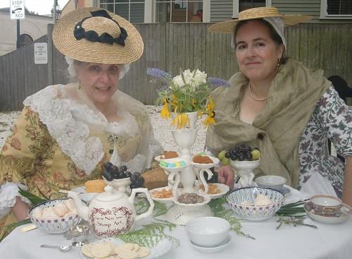 Ladies at a tea table