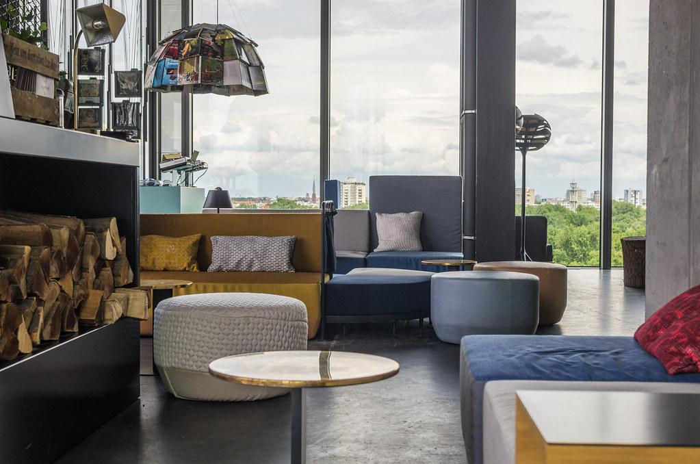 Hotel design à Berlin Tiergarten - Le 25h hotel Bikini - Lounge cosy