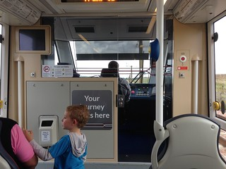 On an Edinburgh tram