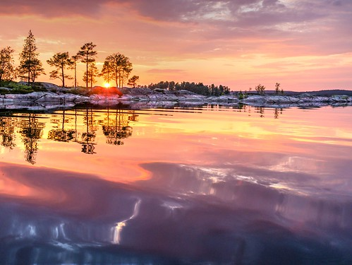 sunset nature water reflections landscape beautifullight hdr beautifulnature beautifulsunset lightanddarkness beautifulcolours reflectionsofsummer greaterphotographers storaglaarvikasweden
