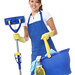 Cute Woman Maid With Mop