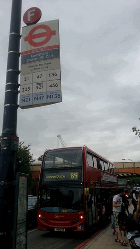 89 at Lewisham station bus stop F