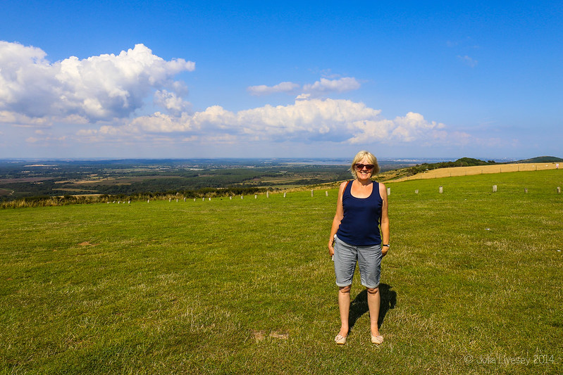Linda on Povington Hill, Dorset