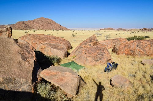 Savannah-camping in Namibia
