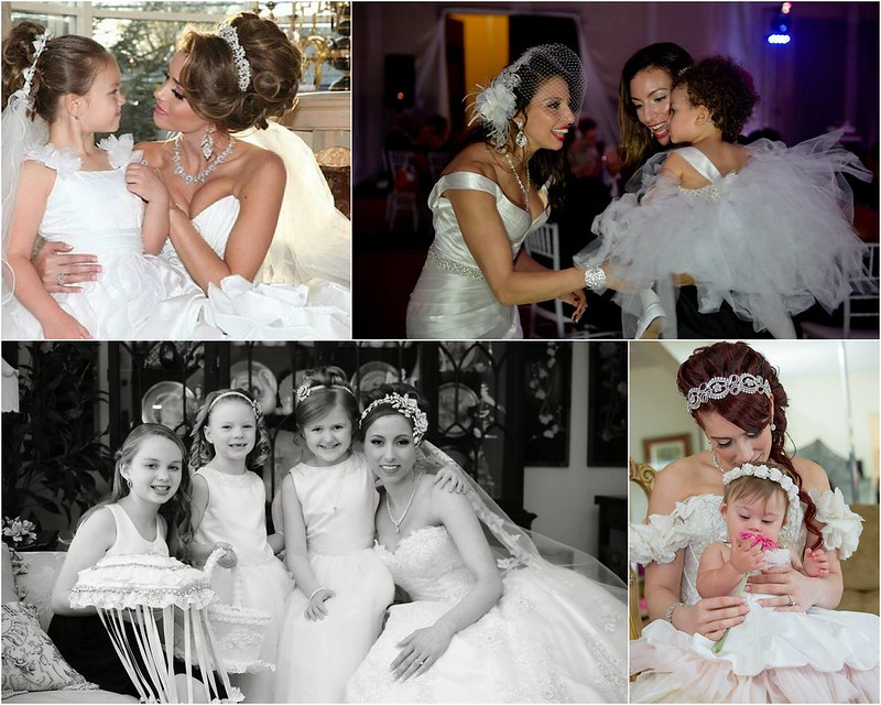 Bridal Styles Brides with their Flower Girls