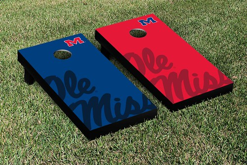 Ole Miss Rebels Cornhole Game Set Watermark Version