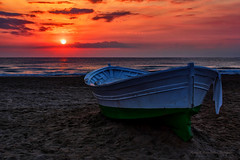 Sunrise & Sunset with Ship
