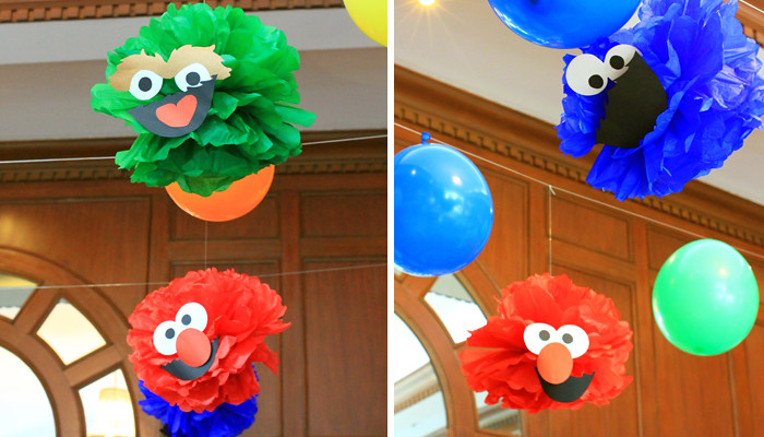 Sesame Street Pompom Decorations