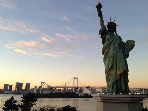 French Statue of Liberty in daiba