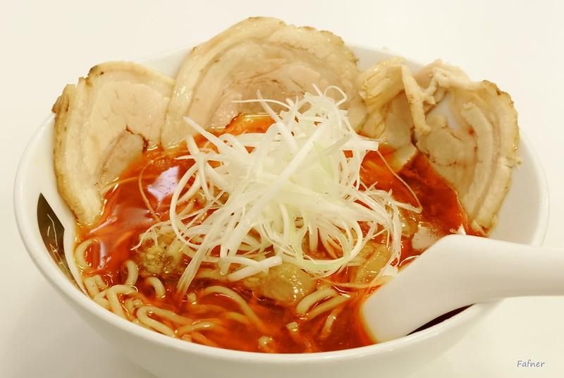 Katsu-tan ramen Shoyu soup spicy level 3