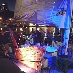 Sailboat karaoke while we wait.