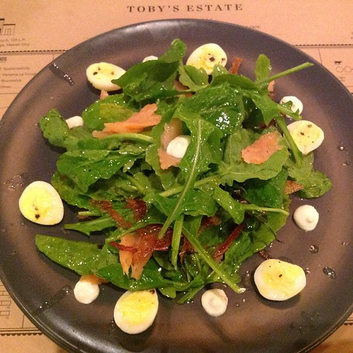 Smoked Salmon and Arugula #Makati #SalcedoVillage #TobysEstate