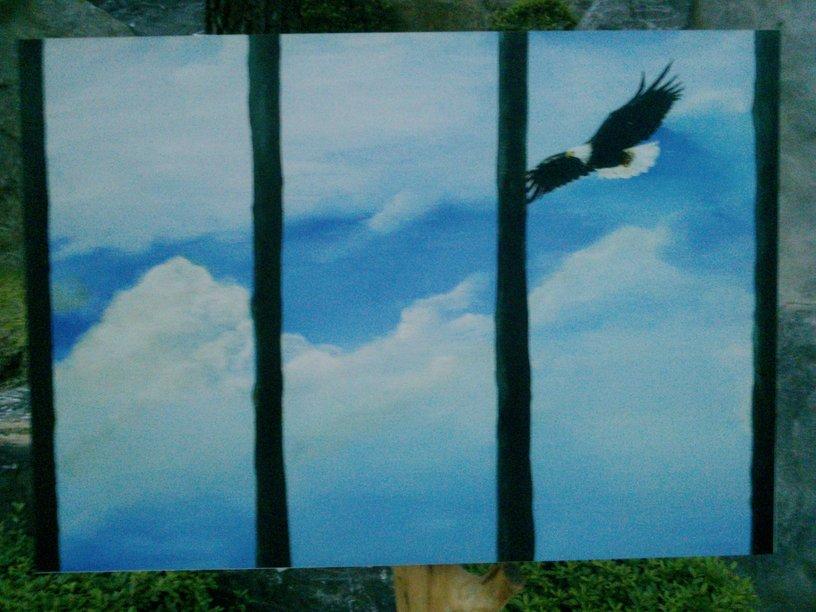 鄭明析牧師圖畫箴言-關在窗戶內的老鷹-圖