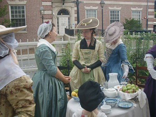 18th century tea party in Newport