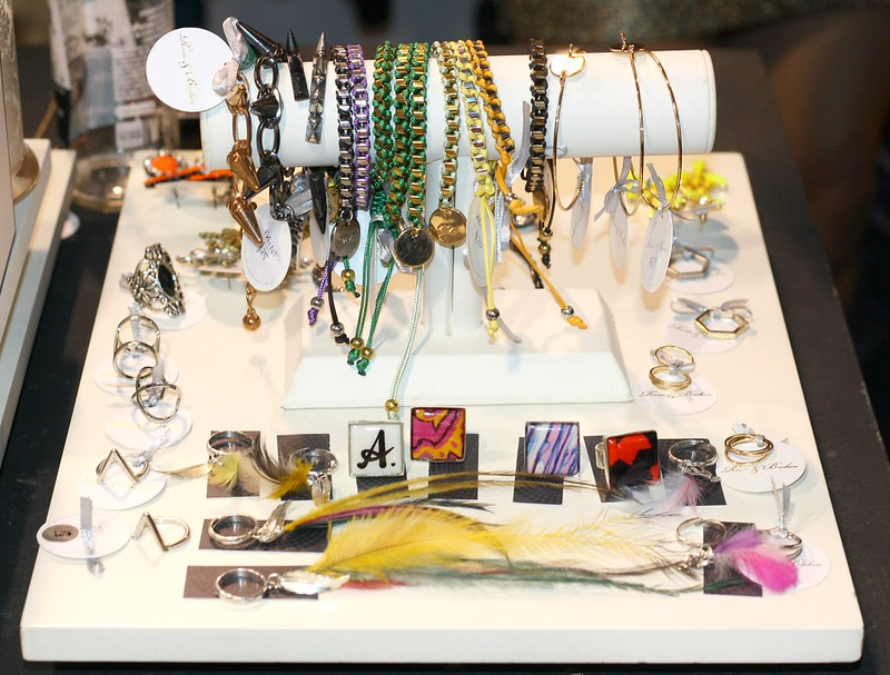Assorted jewellery at Perlu store