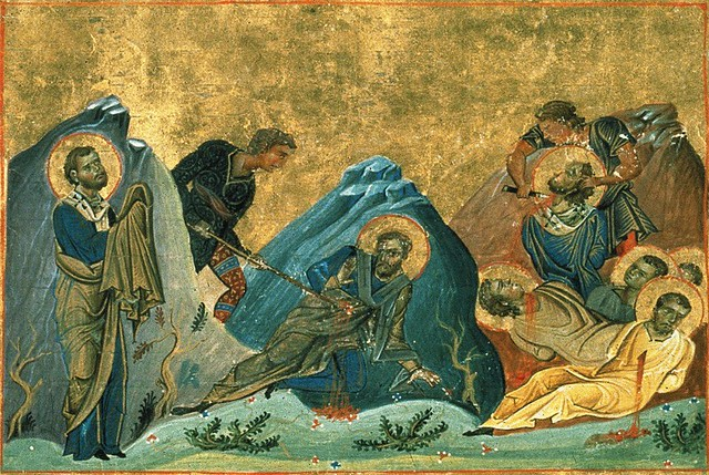 martirizarea Sfintilor Apostoli Stahie, Amplias si Urban