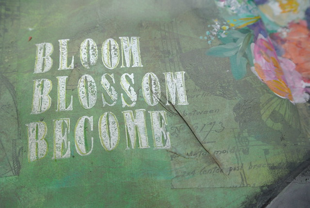 Bloom, Blossom, Become, lettering