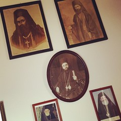 When we drank raki in the monastery, we were watched by these geezers. #amonthingreece