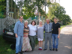 Me with Igor's family in Korosten