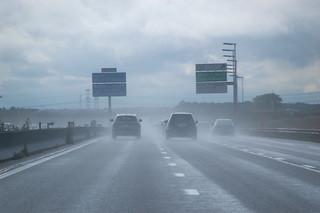 Sur l'autoroute A4 en direction de Paris