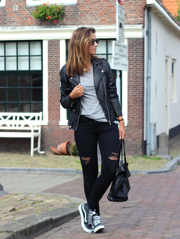 Outfit Vans leather sk8 hi slim
