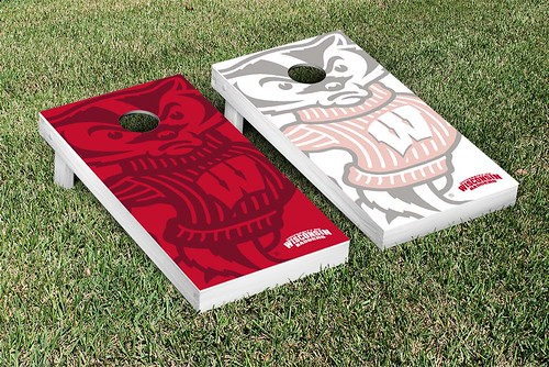Wisconsin Badgers Cornhole Game Set Watermark Version