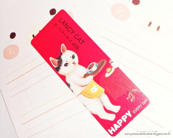 Marcador de páginas gato vermelho