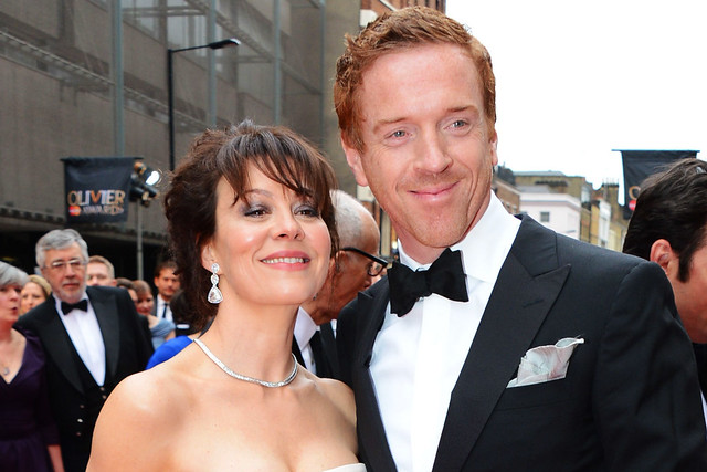 Helen McCrory and Damian Lewis at the Olivier Awards 2013 © Rex Features