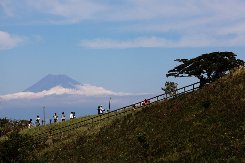 Crowds Gather To View Mount Fuji On Omuroyama